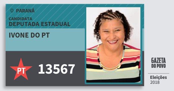 Santinho Ivone do Pt 13567 (PT) Deputada Estadual | Paraná | Eleições 2018