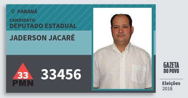 Santinho Jaderson Jacaré 33456 (PMN) Deputado Estadual | Paraná | Eleições 2018