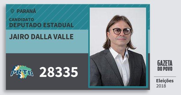 Santinho Jairo dalla Valle 28335 (PRTB) Deputado Estadual | Paraná | Eleições 2018