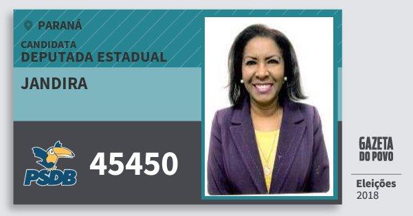 Santinho Jandira 45450 (PSDB) Deputada Estadual | Paraná | Eleições 2018