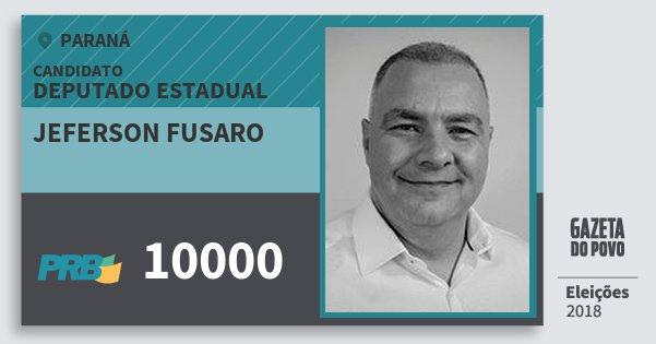 Santinho Jeferson Fusaro 10000 (PRB) Deputado Estadual | Paraná | Eleições 2018