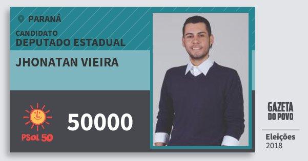 Santinho Jhonatan Vieira 50000 (PSOL) Deputado Estadual | Paraná | Eleições 2018