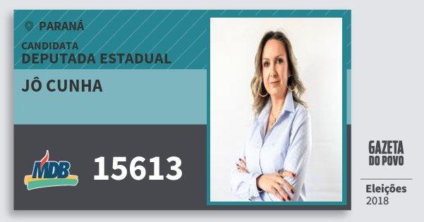 Santinho Jô Cunha 15613 (MDB) Deputada Estadual | Paraná | Eleições 2018