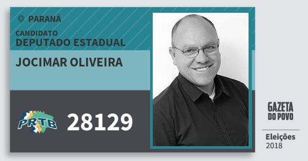 Santinho Jocimar Oliveira 28129 (PRTB) Deputado Estadual | Paraná | Eleições 2018