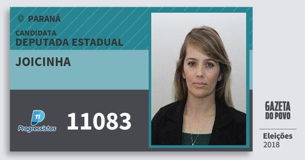 Santinho Joicinha 11083 (PP) Deputada Estadual | Paraná | Eleições 2018