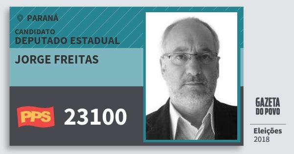 Santinho Jorge Freitas 23100 (PPS) Deputado Estadual | Paraná | Eleições 2018