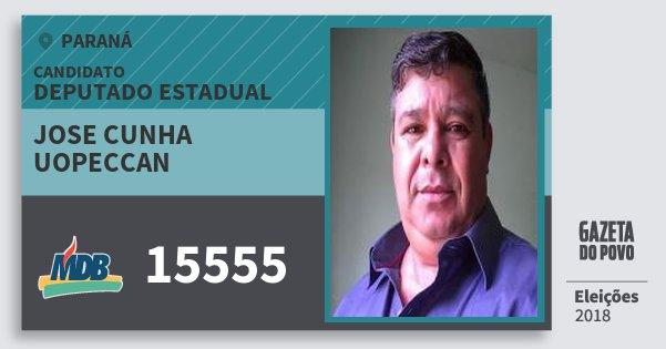 Santinho Jose Cunha Uopeccan 15555 (MDB) Deputado Estadual | Paraná | Eleições 2018