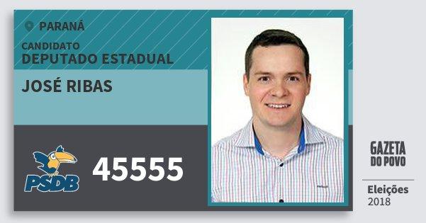 Santinho José Ribas 45555 (PSDB) Deputado Estadual | Paraná | Eleições 2018