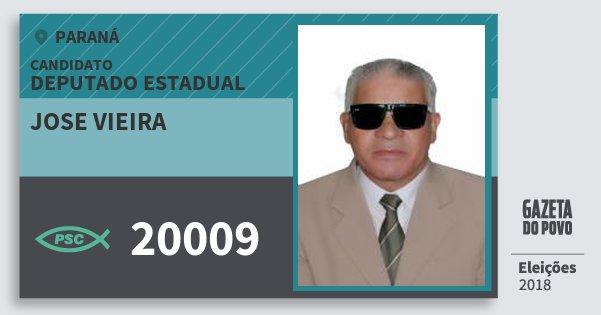 Santinho Jose Vieira 20009 (PSC) Deputado Estadual | Paraná | Eleições 2018