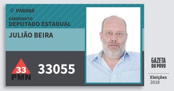 Santinho Julião Beira 33055 (PMN) Deputado Estadual | Paraná | Eleições 2018