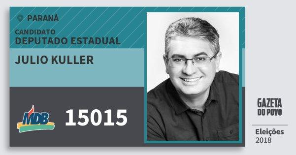 Santinho Julio Kuller 15015 (MDB) Deputado Estadual | Paraná | Eleições 2018