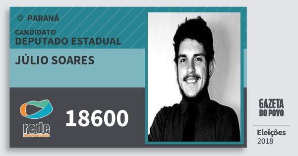 Santinho Júlio Soares 18600 (REDE) Deputado Estadual | Paraná | Eleições 2018