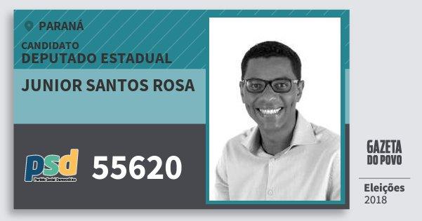 Santinho Junior Santos Rosa 55620 (PSD) Deputado Estadual | Paraná | Eleições 2018