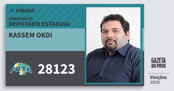 Santinho Kassem Okdi 28123 (PRTB) Deputado Estadual | Paraná | Eleições 2018