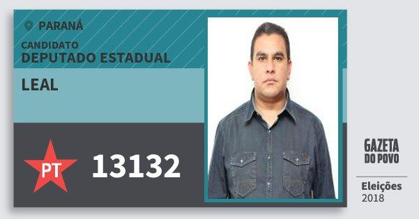 Santinho Leal 13132 (PT) Deputado Estadual | Paraná | Eleições 2018