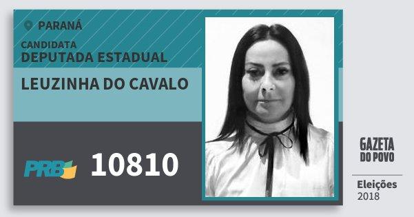 Santinho Leuzinha do Cavalo 10810 (PRB) Deputada Estadual | Paraná | Eleições 2018