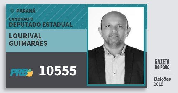 Santinho Lourival Guimarães 10555 (PRB) Deputado Estadual | Paraná | Eleições 2018