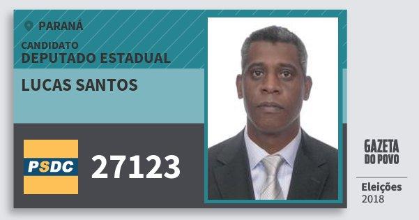 Santinho Lucas Santos 27123 (DC) Deputado Estadual | Paraná | Eleições 2018
