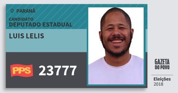 Santinho Luis Lelis 23777 (PPS) Deputado Estadual | Paraná | Eleições 2018