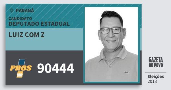Santinho Luiz Com Z 90444 (PROS) Deputado Estadual | Paraná | Eleições 2018