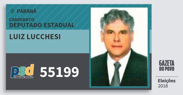 Santinho Luiz Lucchesi 55199 (PSD) Deputado Estadual | Paraná | Eleições 2018