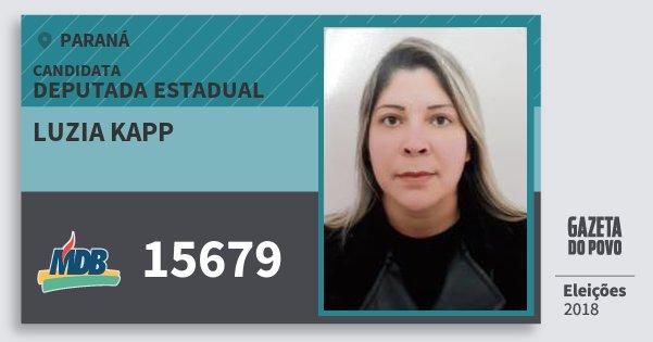 Santinho Luzia Kapp 15679 (MDB) Deputada Estadual | Paraná | Eleições 2018