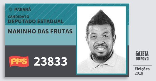 Santinho Maninho das Frutas 23833 (PPS) Deputado Estadual | Paraná | Eleições 2018