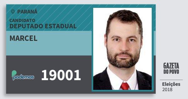 Santinho Marcel 19001 (PODE) Deputado Estadual | Paraná | Eleições 2018