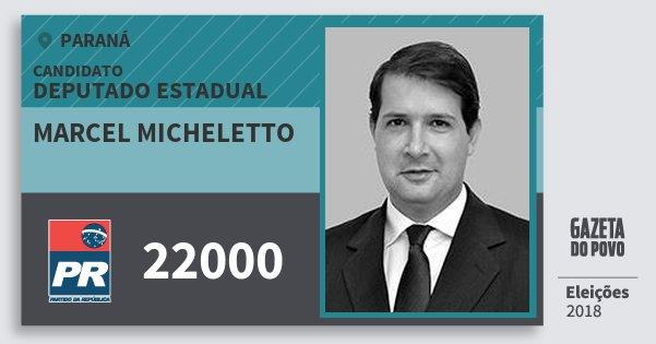 Santinho Marcel Micheletto 22000 (PR) Deputado Estadual | Paraná | Eleições 2018