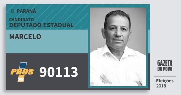 Santinho Marcelo 90113 (PROS) Deputado Estadual | Paraná | Eleições 2018