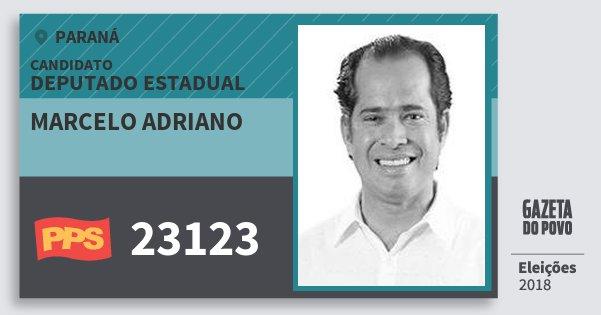 Santinho Marcelo Adriano 23123 (PPS) Deputado Estadual | Paraná | Eleições 2018