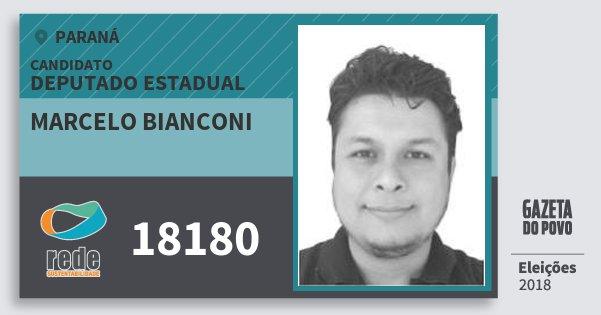 Santinho Marcelo Bianconi 18180 (REDE) Deputado Estadual | Paraná | Eleições 2018