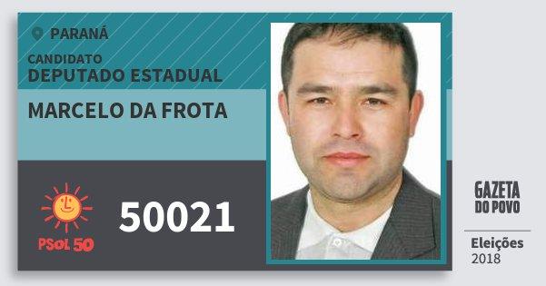 Santinho Marcelo da Frota 50021 (PSOL) Deputado Estadual | Paraná | Eleições 2018
