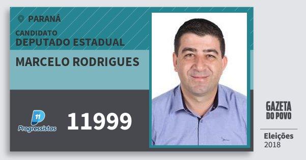Santinho Marcelo Rodrigues 11999 (PP) Deputado Estadual | Paraná | Eleições 2018