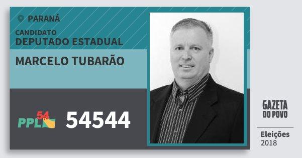 Santinho Marcelo Tubarão 54544 (PPL) Deputado Estadual | Paraná | Eleições 2018