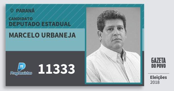 Santinho Marcelo Urbaneja 11333 (PP) Deputado Estadual | Paraná | Eleições 2018