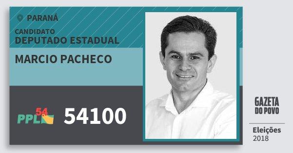 Santinho Marcio Pacheco 54100 (PPL) Deputado Estadual | Paraná | Eleições 2018