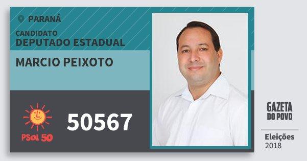 Santinho Marcio Peixoto 50567 (PSOL) Deputado Estadual | Paraná | Eleições 2018