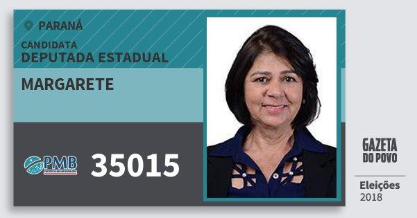 Santinho Margarete 35015 (PMB) Deputada Estadual | Paraná | Eleições 2018