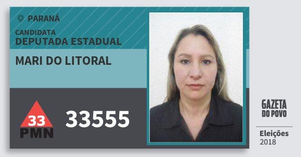 Santinho Mari do Litoral 33555 (PMN) Deputada Estadual | Paraná | Eleições 2018