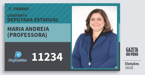 Santinho Maria Andreia (Professora) 11234 (PP) Deputada Estadual | Paraná | Eleições 2018