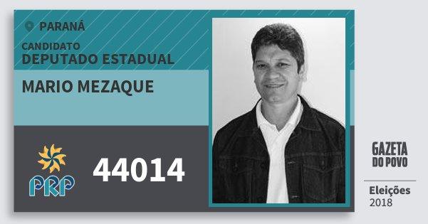Santinho Mario Mezaque 44014 (PRP) Deputado Estadual | Paraná | Eleições 2018