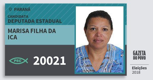 Santinho Marisa Filha da Ica 20021 (PSC) Deputada Estadual | Paraná | Eleições 2018