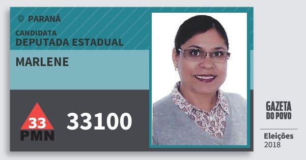 Santinho Marlene 33100 (PMN) Deputada Estadual | Paraná | Eleições 2018