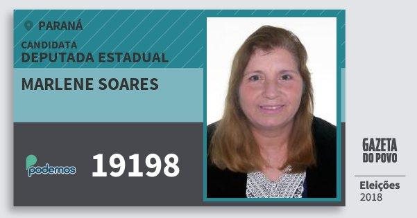 Santinho Marlene Soares 19198 (PODE) Deputada Estadual | Paraná | Eleições 2018