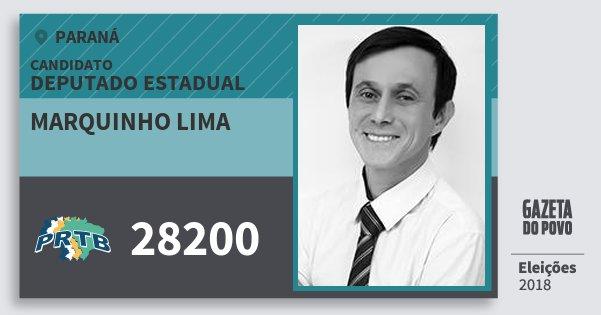 Santinho Marquinho Lima 28200 (PRTB) Deputado Estadual | Paraná | Eleições 2018