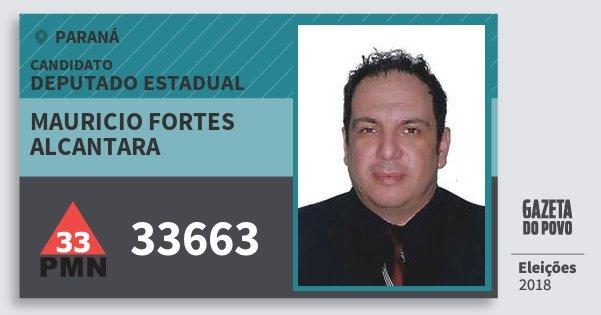 Santinho Mauricio Fortes Alcantara 33663 (PMN) Deputado Estadual | Paraná | Eleições 2018