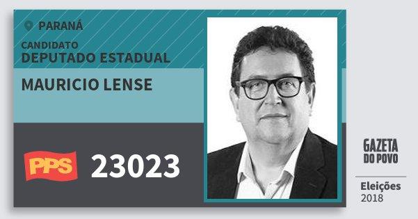 Santinho Mauricio Lense 23023 (PPS) Deputado Estadual | Paraná | Eleições 2018