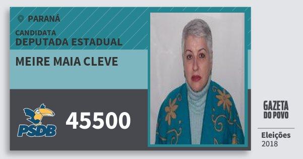 Santinho Meire Maia Cleve 45500 (PSDB) Deputada Estadual | Paraná | Eleições 2018