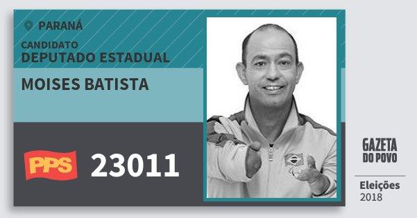 Santinho Moises Batista 23011 (PPS) Deputado Estadual | Paraná | Eleições 2018